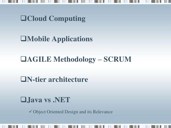 Latest trends in information technology for N tier architecture in java