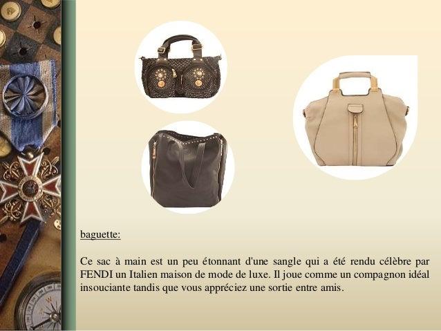 baguette: Ce sac à main est un peu étonnant d'une sangle qui a été rendu célèbre par FENDI un Italien maison de mode de lu...