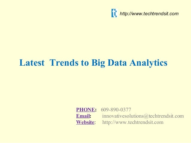 Latest Trends To Big Data Analytics