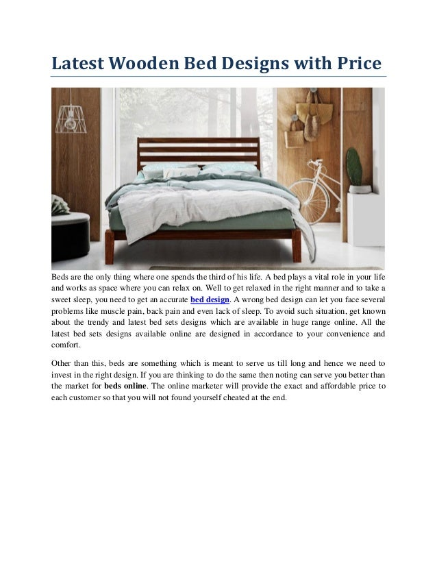 Latest Wooden Bed Designs With Price