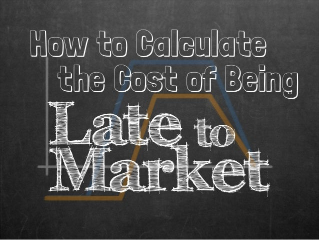 How to Calculate the Cost of Being Late to Market