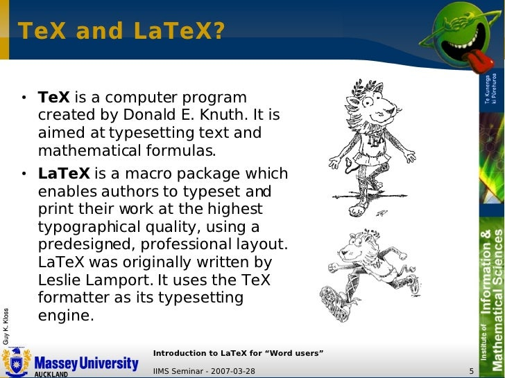 LaTeX Introduction For Word Users