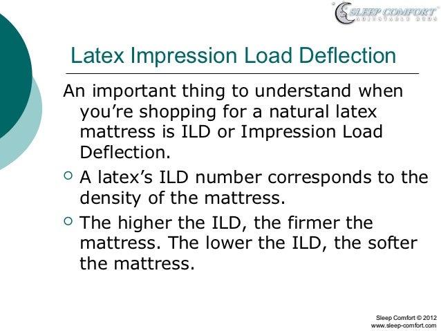 Ratings On Mattresses >> Latex Mattress Core Density and ILD