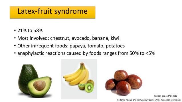 Latex fruit allergy