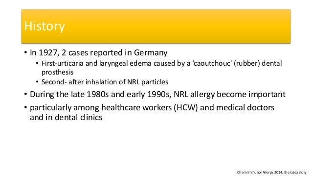Latex allergy and catheters