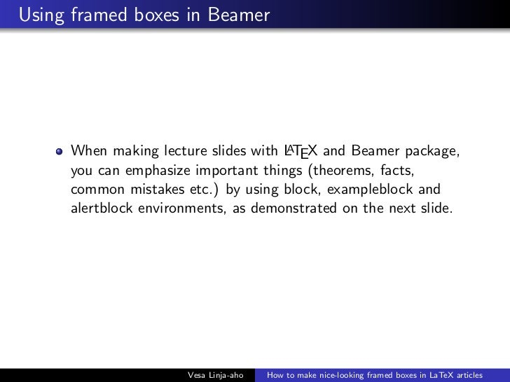 How to make boxed text with LaTeX