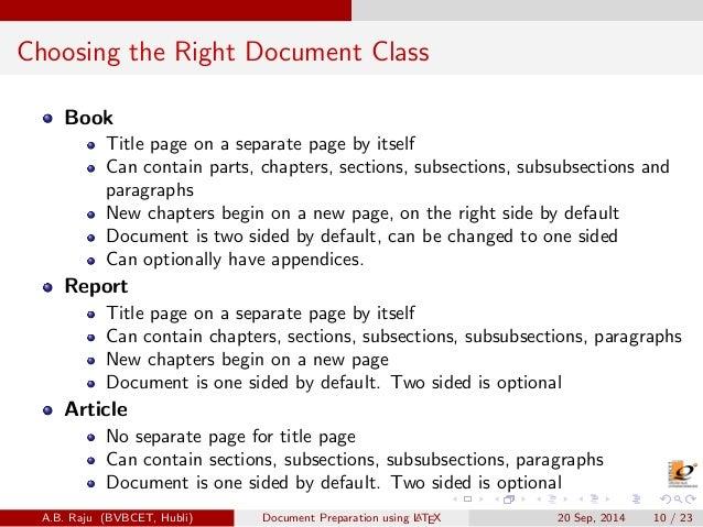 Latex Article Documentclass