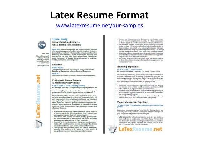 latex resume