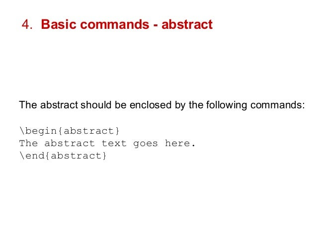 how to start an abstract