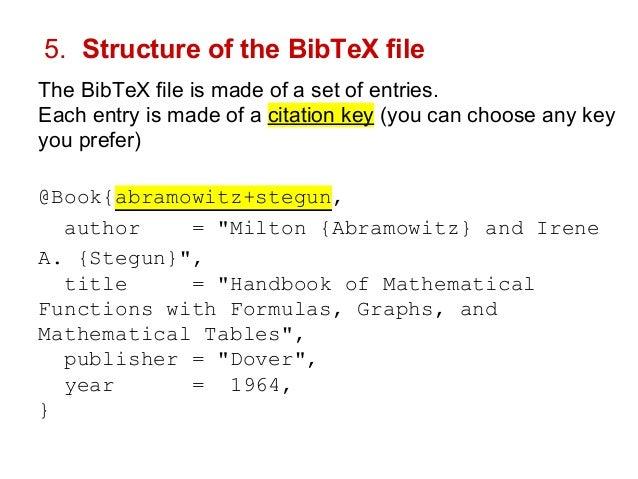 How To Start Using Latex And Bibtex