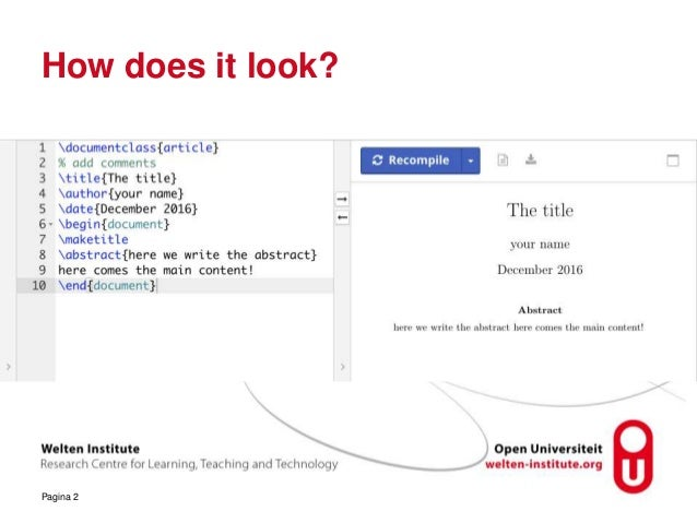 academic writing using latex ppt
