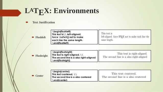 Latex workshop essentials and practices latex environments ccuart Image collections
