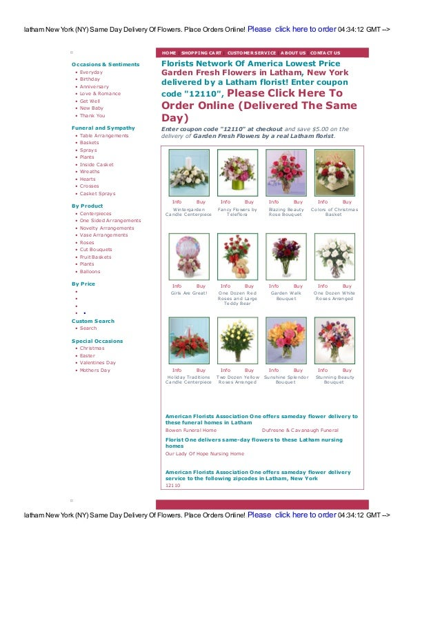 Latham Flowers Florists Same Day Free Delivery