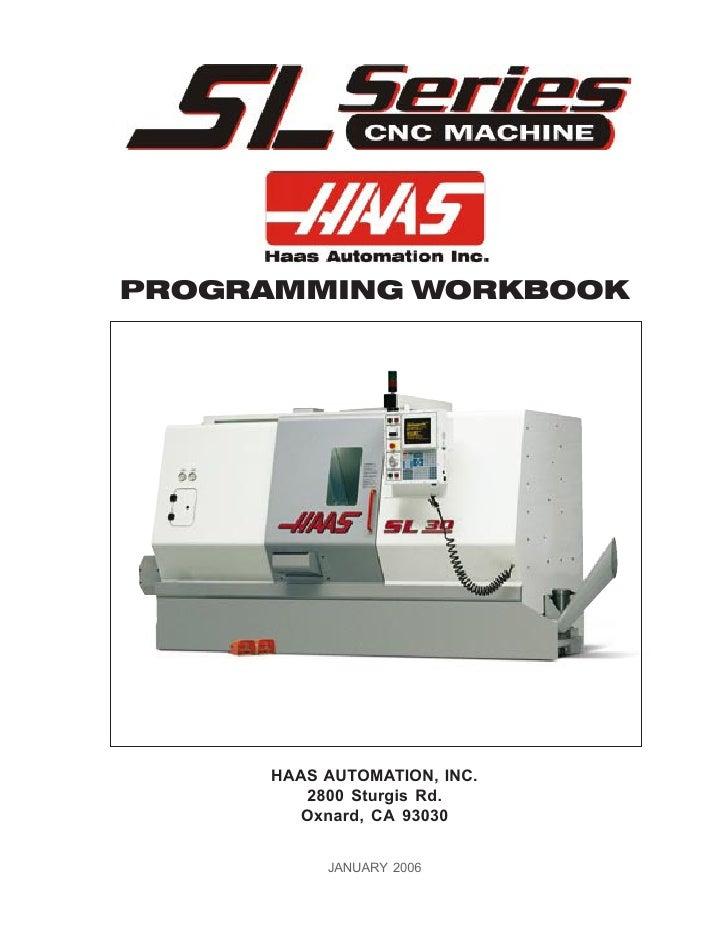 HAAS Lathe Workbook