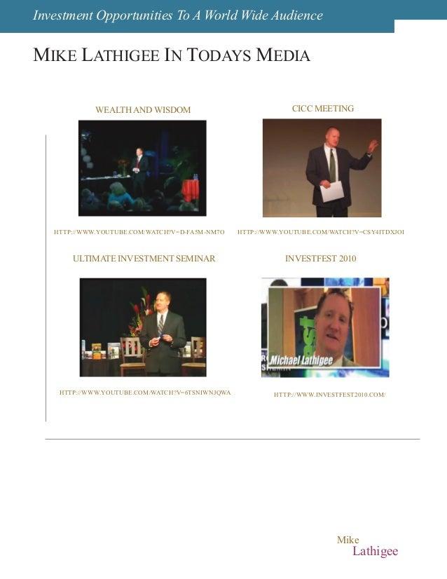 Michael Mike Lathigee Press Kit