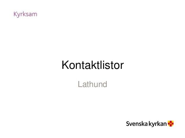 Kontaktlistor Lathund