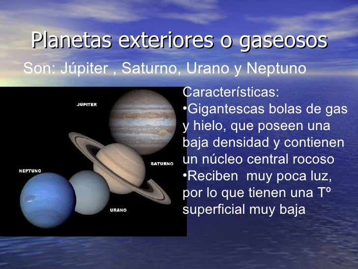 La tierra - Caracteristicas de los planetas interiores ...