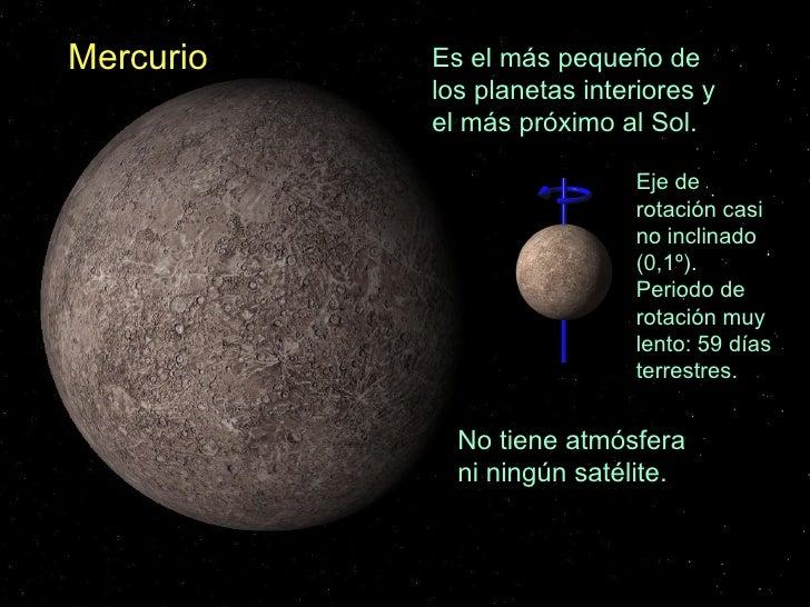 La tierra en el universo - Caracteristicas de los planetas interiores ...