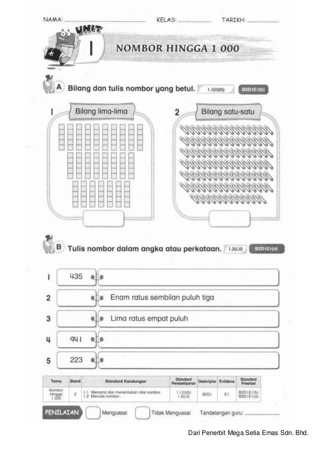 Latih Tubi Soalan Latihan Matematik Tahun 2 Cuti Bulan Mac 1