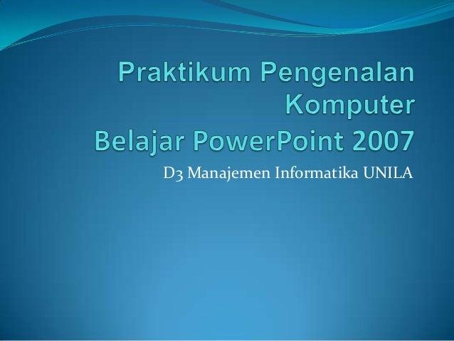 D3 Manajemen Informatika UNILA