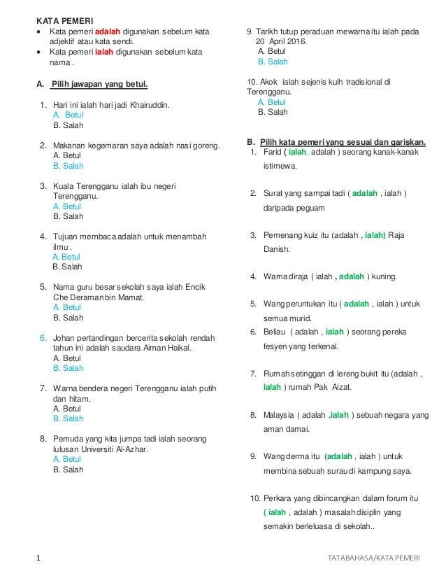 Latihan Kata Pemeri