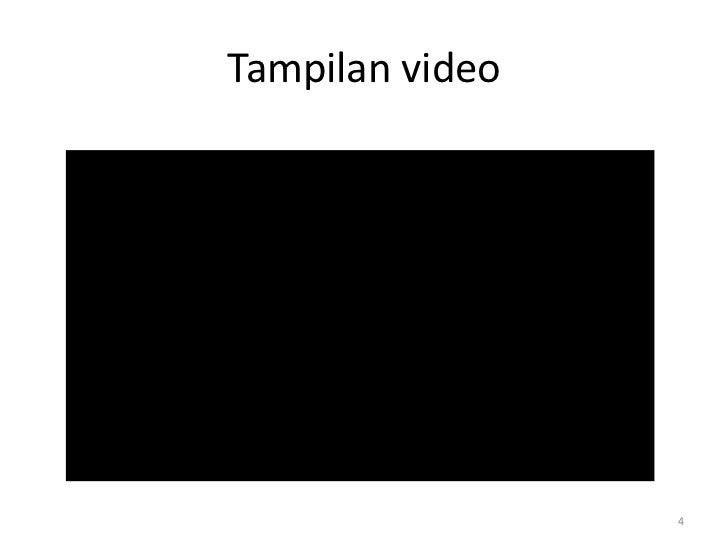 Tampilan video                 4