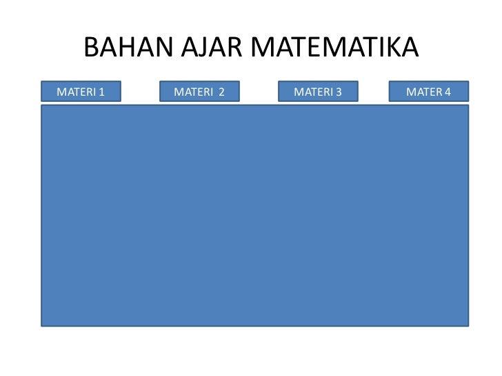 BAHAN AJAR MATEMATIKAMATERI 1   MATERI 2   MATERI 3   MATER 4