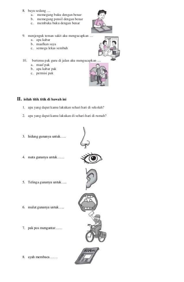 Latihan Soal Bahasa Indonesia Kelas 1 Sd