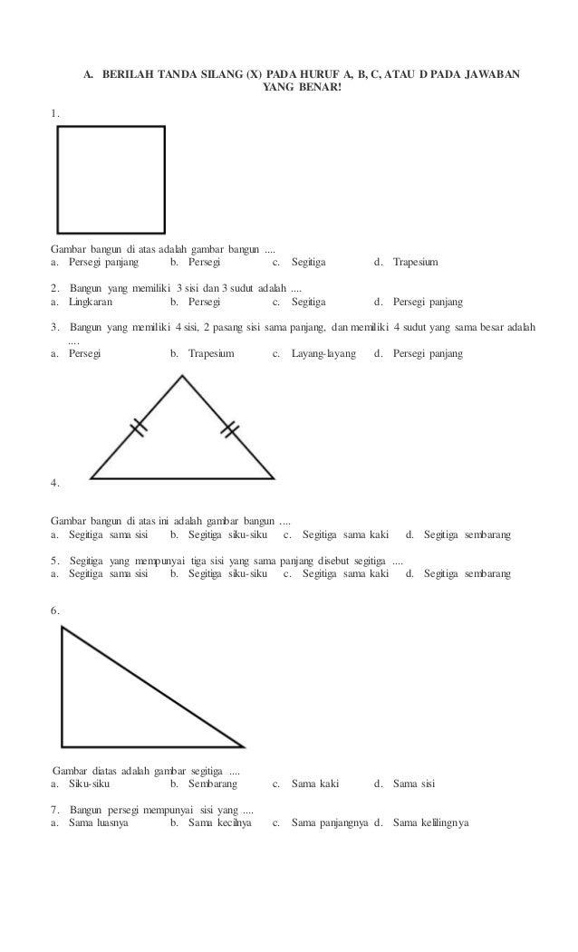 Soal Latihan Matematika Kelas 4 Bangun Datar Ilmusosial Id