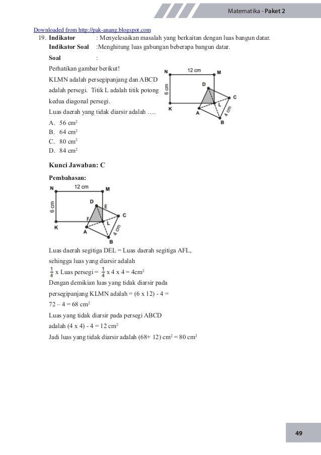 Latihan Soal Un Matematika 2015