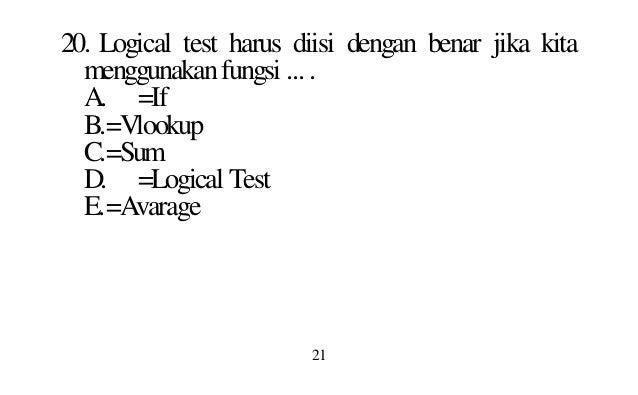 Latihan Soal Ms Excel