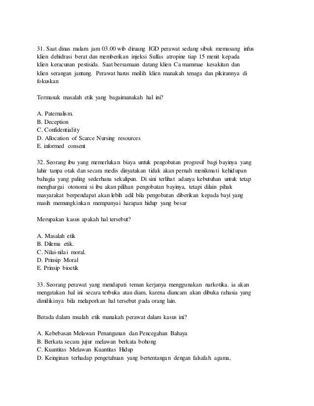 Soal Ujian Kompetensi Perawat Pdf