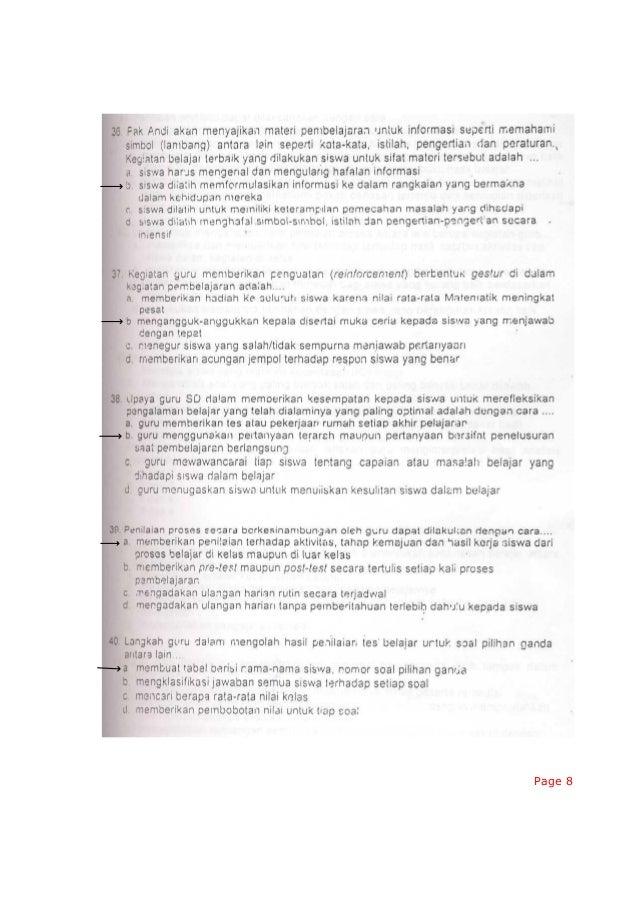 Latihan Soal Uka Kompetensi Pedagogik