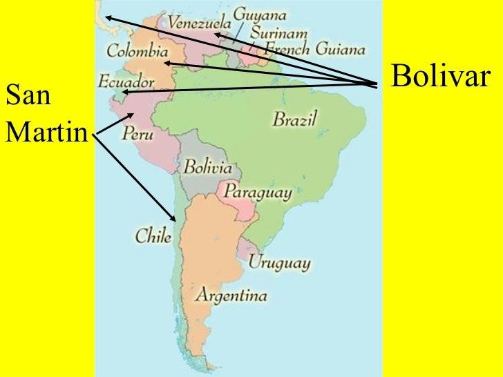 Latin American Revolution - Map of us after revolutionary war