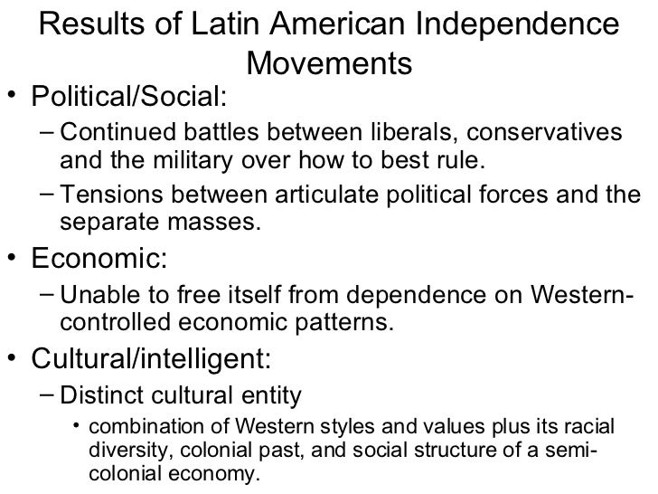 americas road to independence essay The causes for the independence movements throughout latin america during the colonial period were both varied and centralized around specific ideas.