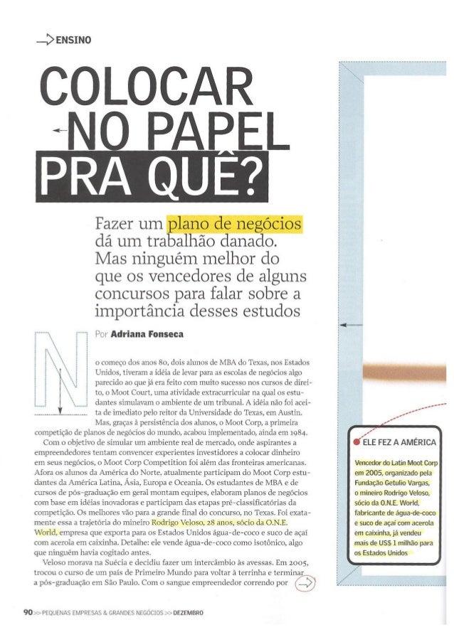 Latin Moot Corp e I2P na Revista PEGN