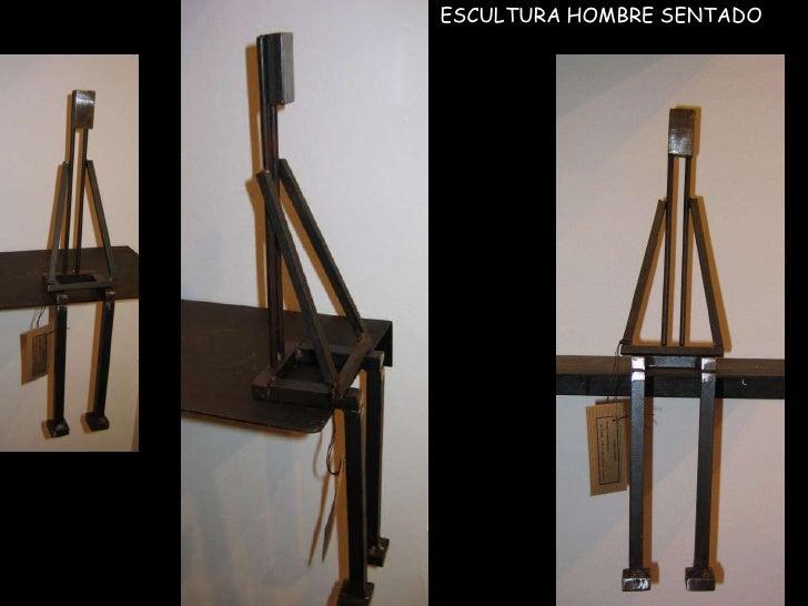 ESCULTURA HOMBRE SENTADO