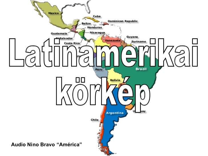 """Latinamerikai körkép Audio Nino Bravo """"América"""""""