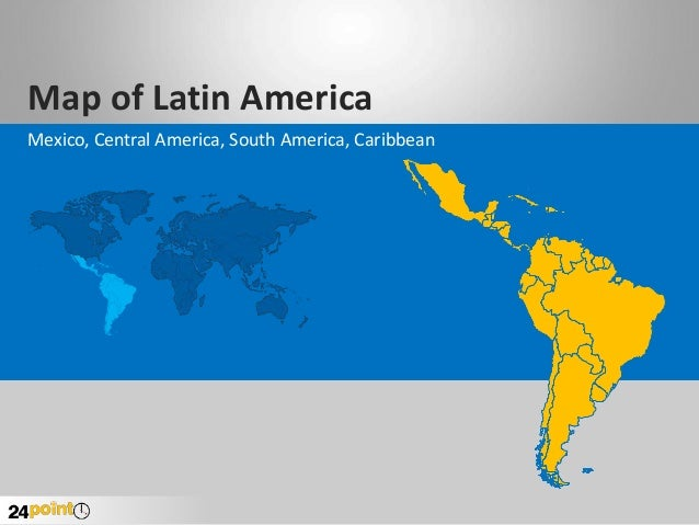 Latin america powerpoint map map of latin america mexico central america south america caribbean gumiabroncs Images