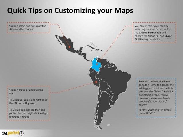 Latin america regional powerpoint map countries names electronic latin american powerpoint toneelgroepblik Gallery