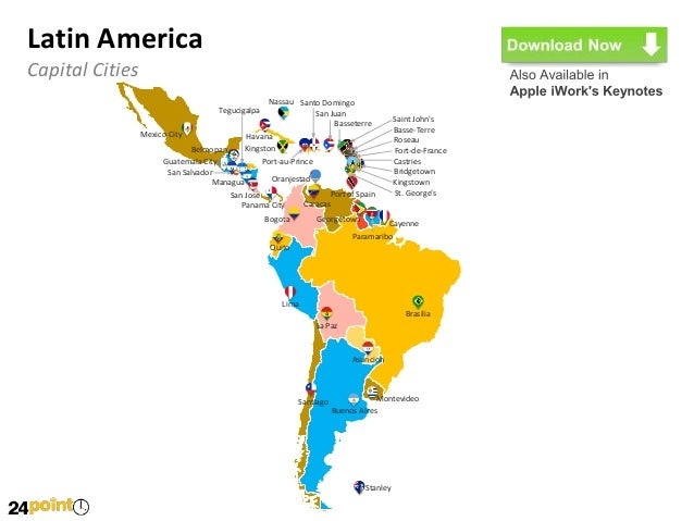 Latin America PowerPoint Map