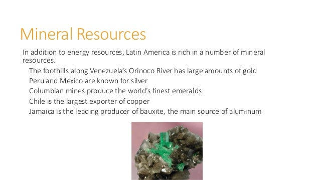 Major Natural Resources In Jamaica