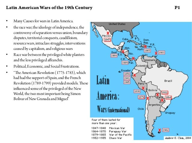 19th century latin america Hisotry of latin america history of the region from the pre-columbian period and including colonization by the spanish and portuguese beginning in the 15th century, the 19th-century wars of independence, and developments to the end of world war iilatin america is generally understood to consist of the entire continent of south america in addition to mexico, central america, and the islands of.