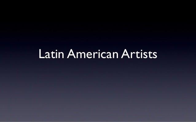 Latin American Artists
