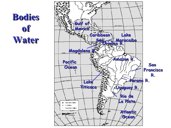 South America Map Bodies Of Water