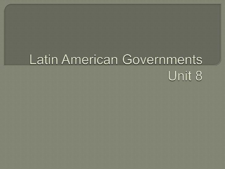 Latin American Governments 92