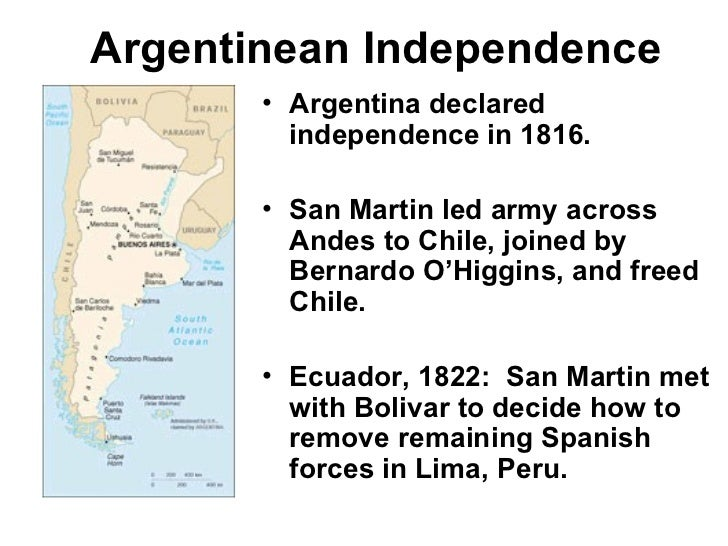 a history of argentinas independence Britain's 'forgotten' invasion of argentina the history of argentina's independence is taught very rigorously to foster a sense of nationality and i remember very clearly the story of britain's invasions and how the 'ordinary' people of buenos aires defeated the 'mighty' armies of the.