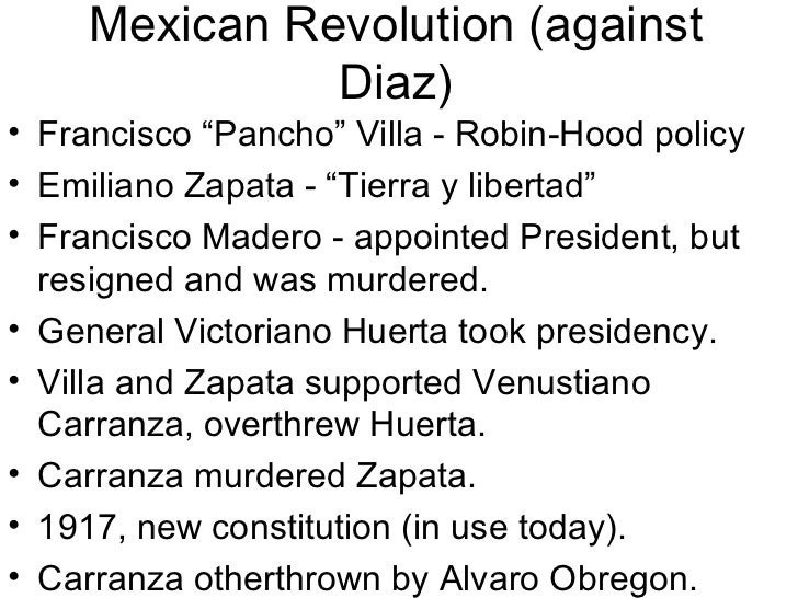 mexican revolution essay conclusion Find out more about the history of mexican revolution, including videos, interesting articles, pictures, historical features and more get all the facts on historycom.