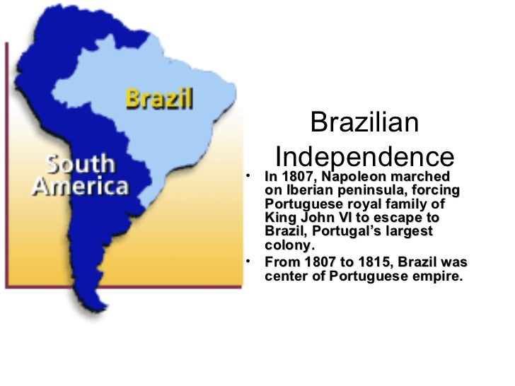 the brazilian independence movement essay The long struggle for freedom in latin america primary sources on latin america (a short list) courtney j campbell department of history vanderbilt university.