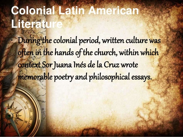 Colonial latin american literature hot